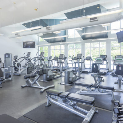 Fitness center at the Enclave in Silver Spring MD