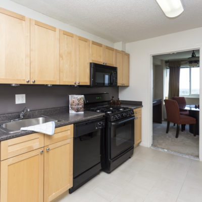A kitchen nook inside an Enclave Apartment in Silver Spring