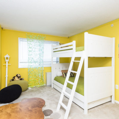 A bunk bed inside an apartment at the Enclave in Silver Spring