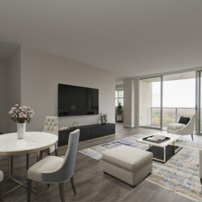 Modern one bedroom apartment at the Enclave high rise apartments in MD