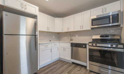 Kitchen with new appliances at the Enclave in Silver Spring